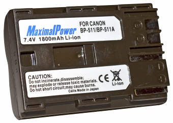 MaximalPower BP-511/511a 1800mAh