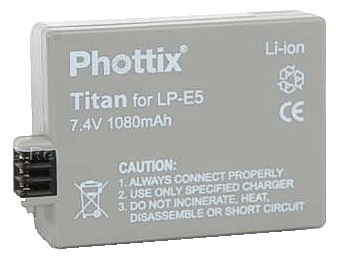 Phottix LP-E5 Titan 1080mAh