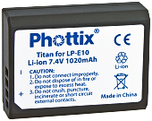 Phottix LP-E10 Titan 1020mAh